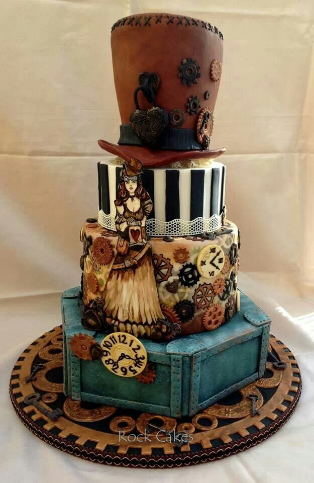 221 Best Cakes Steampunk Images On Pinterest Steampunk