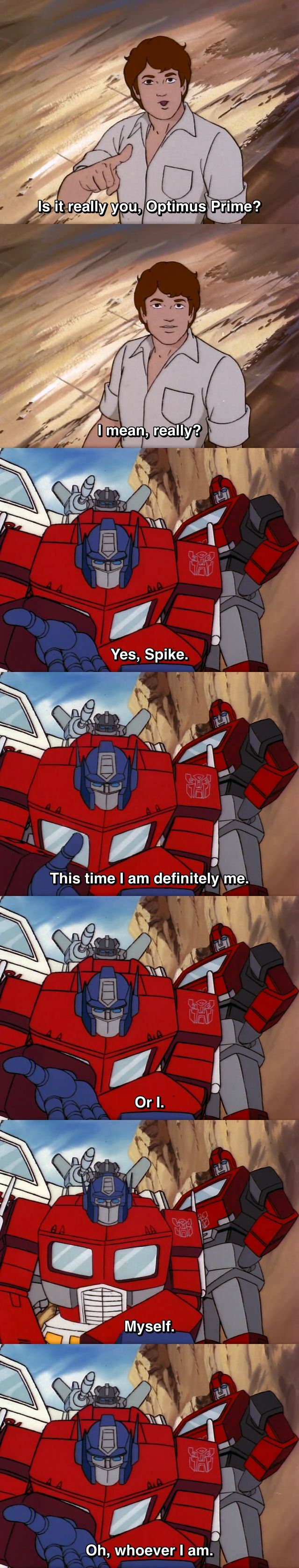 """Transformers G1 Optimus Prime and Spike Witwicky (from """"A Prime Problem"""")"""
