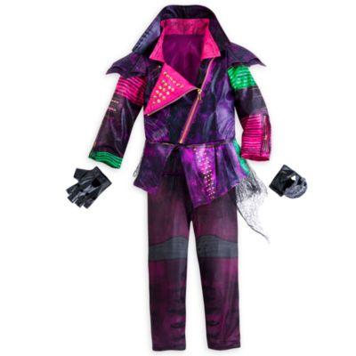 Ahora, las pequeñas y traviesas villanas podrán vestirse igual que Mal con este estupendo disfraz de Los descendientes. La chaqueta estampada de piel sintética imita la que lleva la hija de Maléfica y viene con unos pantalones de corte estrecho y unos guantes sin dedos a juego.