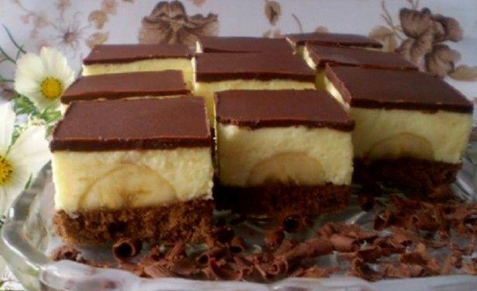Banánové kostky s čokoládou | NejRecept.cz