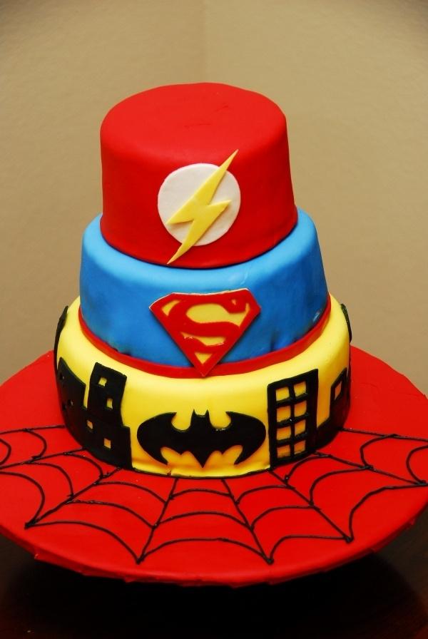 Superhero cake - replace Superman with Spiderman