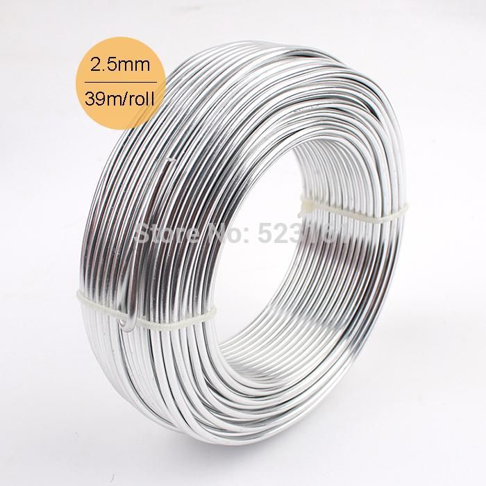 Wholesale 0 5kg Anodized Aluminum Diy Craft Wire 2 5mm Round 10 Gauge 39m Silver Jewelry Whimsy Soft Wire Coil Perma Aluminum Wire Jewelry Wire Jewelry Jewelry