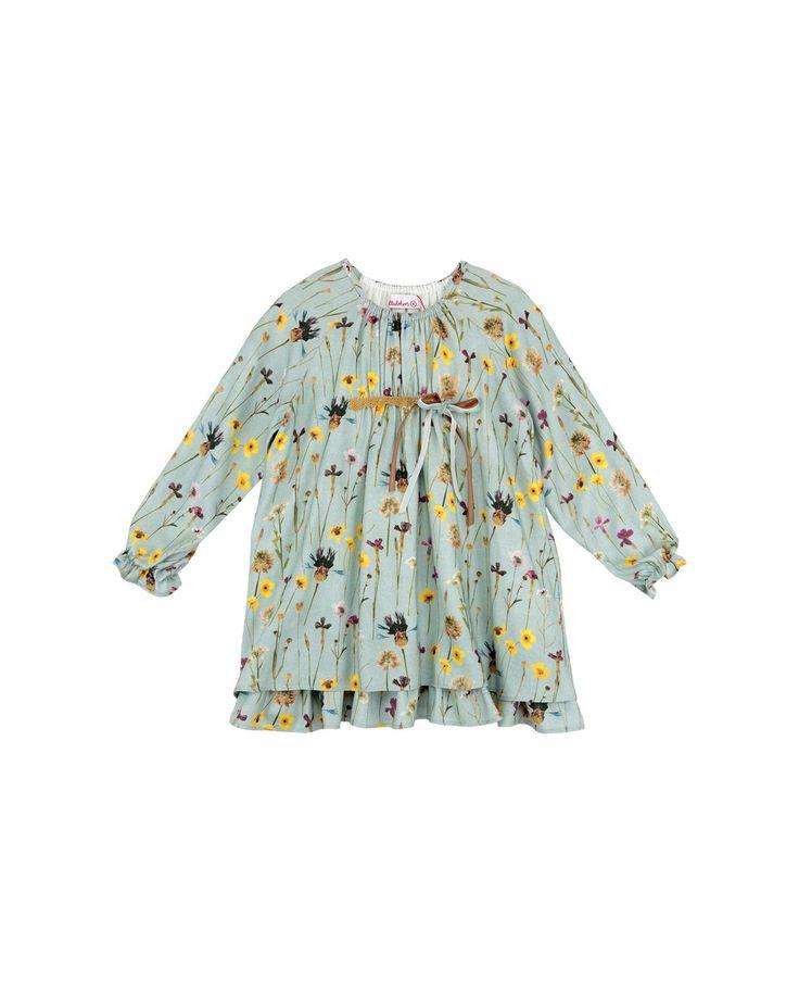 Vestido de niña Villalobos azul con estampado de flores · Moda · El Corte Inglés