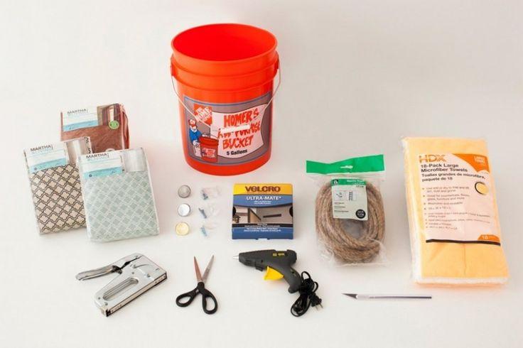 Cómo hacer un puff con un tacho de pintura paso a paso | Bioguia Diy Divan, Easy Craft Projects, Diy Crafts, Recycle Crafts, Repurpose, Pouf En Crochet, Diy Pouf, Diy Ottoman, Sisal Rope