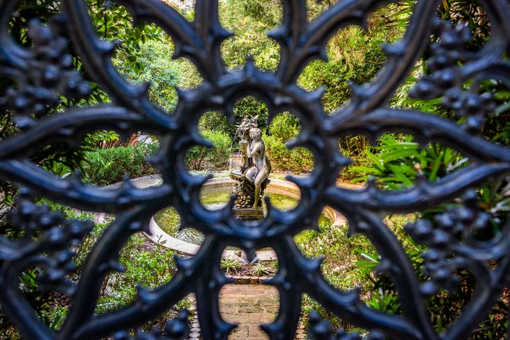 Decked out in wrought iron, mossy cobblestones and elaborate fountains, Savannah's secret gardens look as though they are from a storybook.