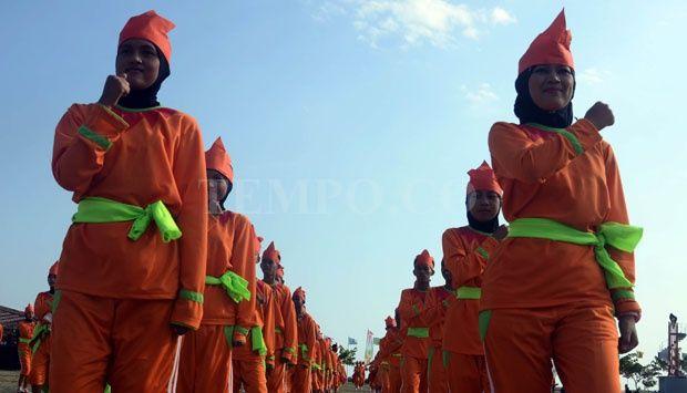 Tarian Kreasi 500 Siswa Tutup Pagelaran Porda XV Sulsel
