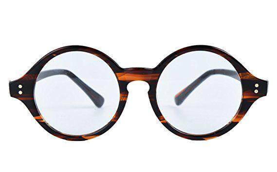 22c2ebaf00a Agstum Handmade Retro Round Optical Eyeglasses Frame 45mm Review ...
