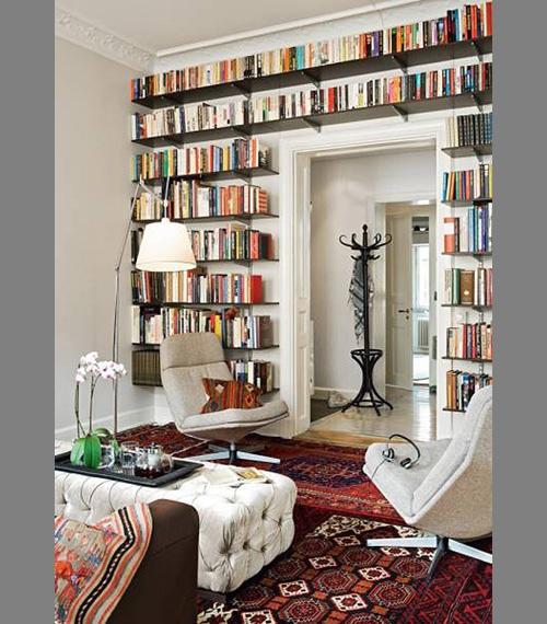 ceiling, door trim, bookshelf porn