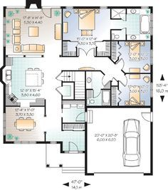 - 21522DR | 1st Floor Master Suite, CAD Available, Canadian, Country, Metric, PDF, Ranch | Architectural Designs