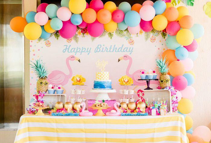 Tropical Flamingo Birthday Party on Kara's Party Ideas | KarasPartyIdeas.com (13) #flamingoparty #kidspartyideas #karaspartyideas