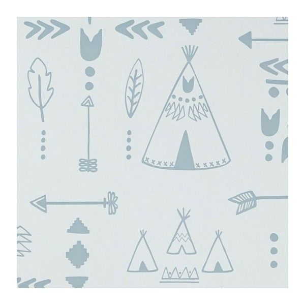Teepees Wallpaper found on Polyvore featuring polyvore, home, home decor, wallpaper, pattern wallpaper, tribal wallpaper, tribal pattern wallpaper, feather wallpaper and arrow home decor