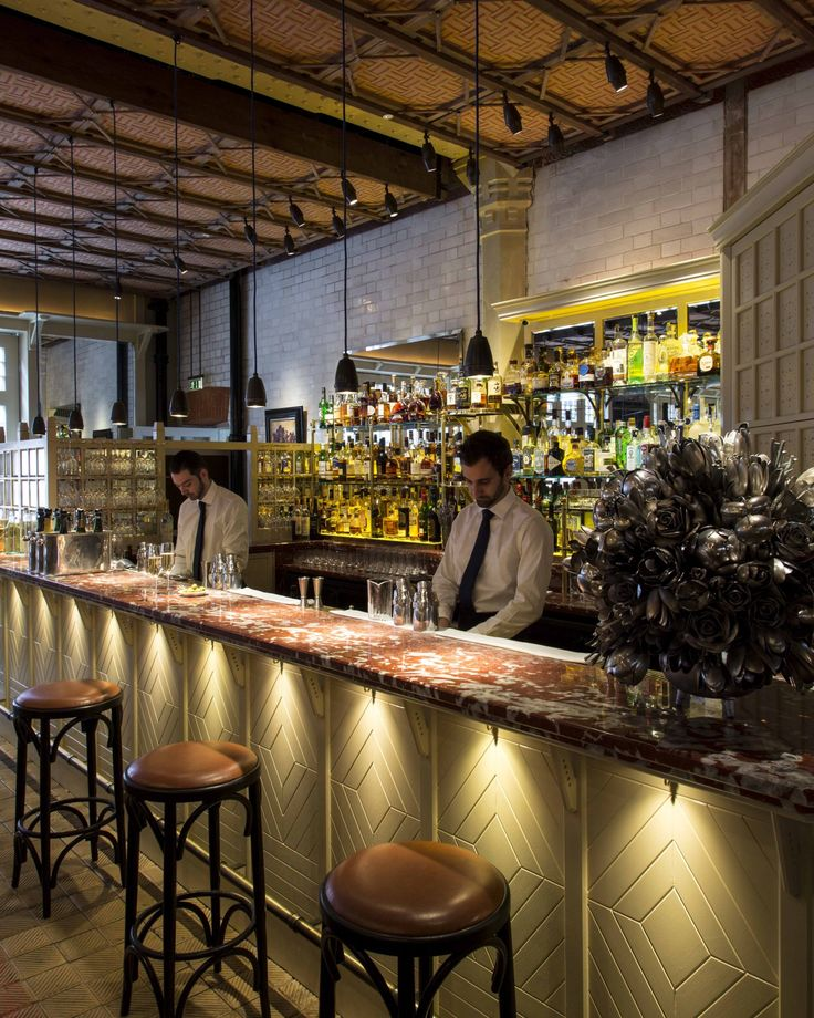 The bar at Chiltern Firehouse
