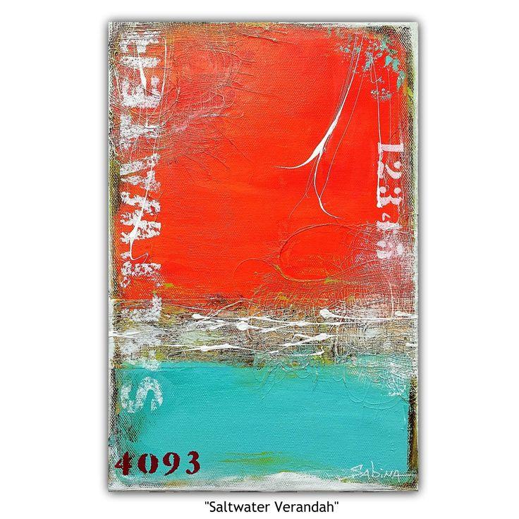 """""Saltwater Verandah"" (coastal abstract landscape)"" by Sabina D'Antonio. Paintings for Sale. Bluethumb - Online Art Gallery"