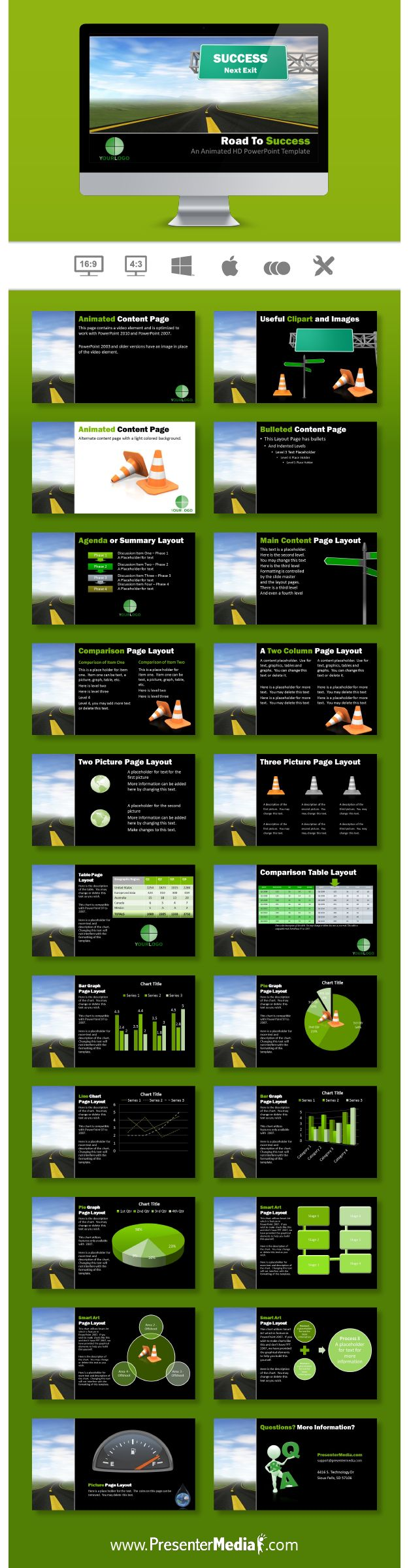 Road to Success Template #PowerPoint #Success http://bit.ly/2blZlaQ