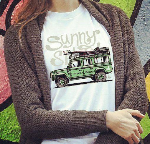 Sunny #surfergirl #tshirt #camiseta #unisex #surf #clothing #TheSurfeirosPiratas