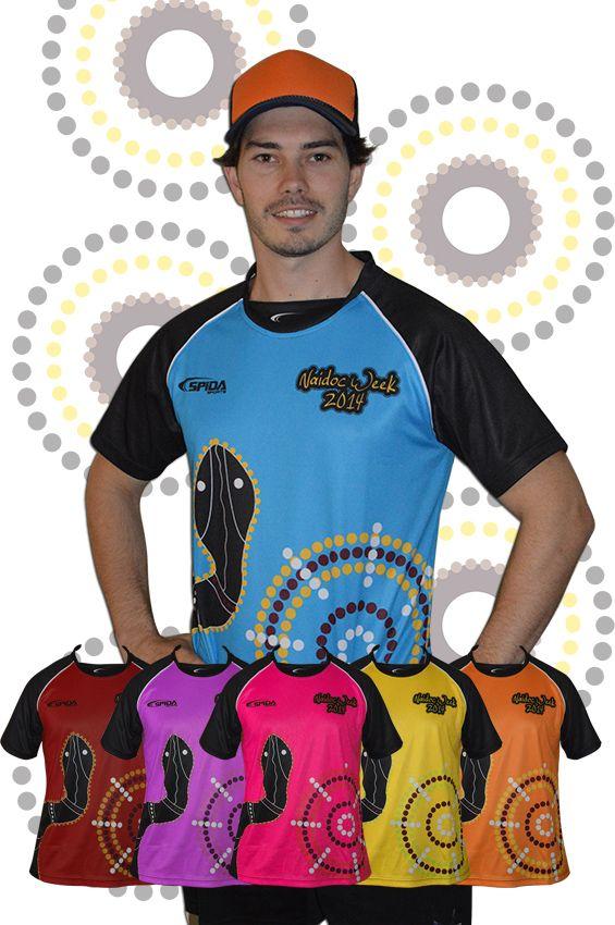 Naidoc Week 2014 Aboriginal design clothing. Print you logo, DONT MISS OUT ORDER NOW! http://promocorner.com.au/aboriginal-clothing/