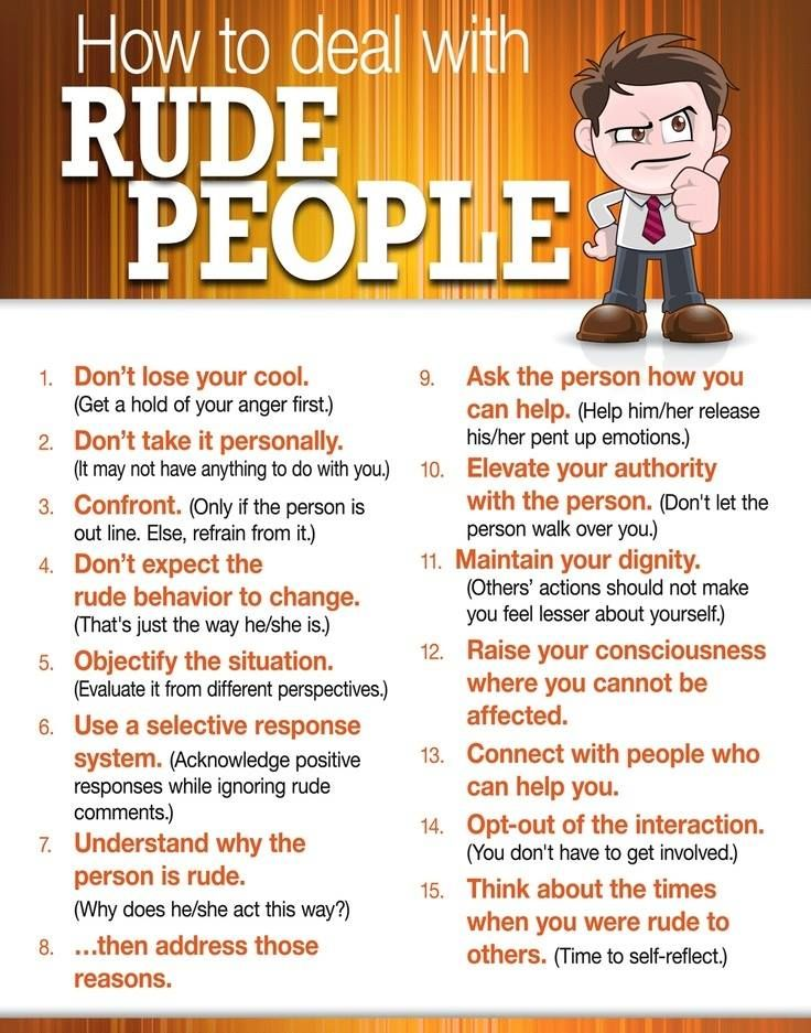 How to Deal with Rude People #HumanResources #CSUDH http://www.csudh.edu/ee/advancedhr.html