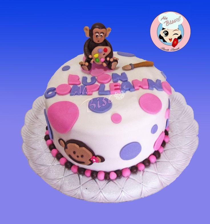 Torta decorata scimmia #cakedesign #birthdaycake #monkeycake