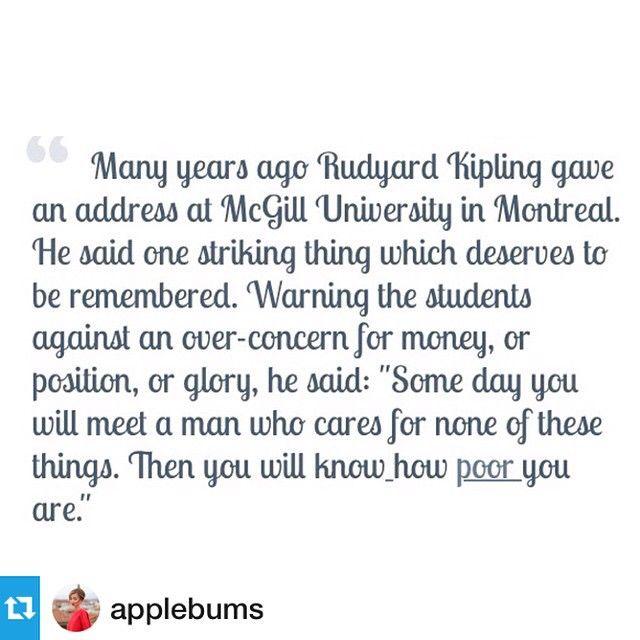relieved#правильныемысли #Repost @applebums・・・U know what I mean #mydubaiwink Много лет назад Редьярд Киплинг выступал с речью в университете Макгилла в Монреале. И там он сказал одну очень важную вещь. Предостерегая студентов от чрезмерной зацикленности на деньгах, власти или славе, он сказал так: «Однажды вы повстречаете человека, для которого всё это не имеет значения. И тогда вы поймёте, как вы бедны».
