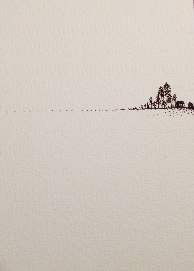 Iben munnecke tusch on paper 2014. Allmost snow