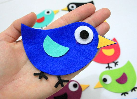 Check out this item in my Etsy shop https://www.etsy.com/listing/124878293/70-pieces-die-cut-felt-winged-comic-bird