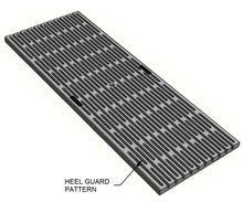 Stainless Steel Trench Grates - Heel Guard