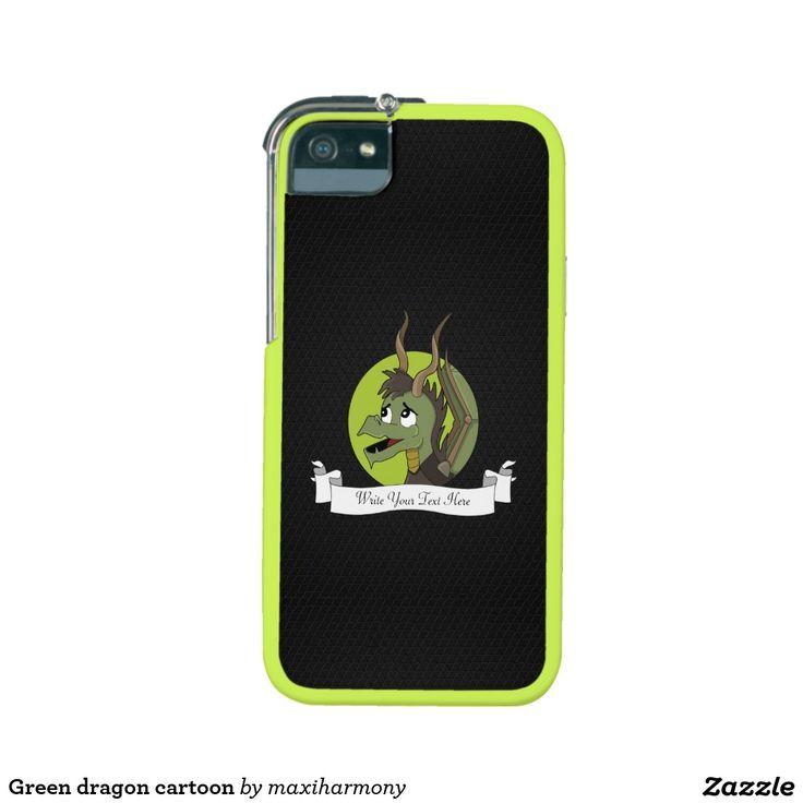 Green dragon cartoon iPhone 5 cases