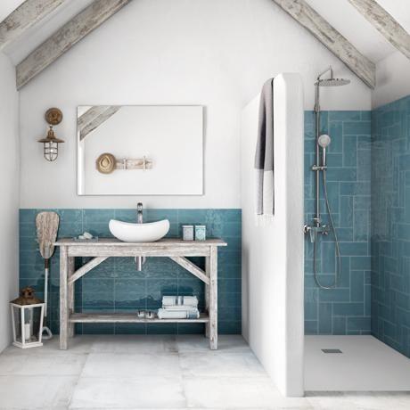 Miravet Blue Steel Wall Tile Blue Ceramic Kitchen Tiles Wall Tiles   Shop |  Tileflair