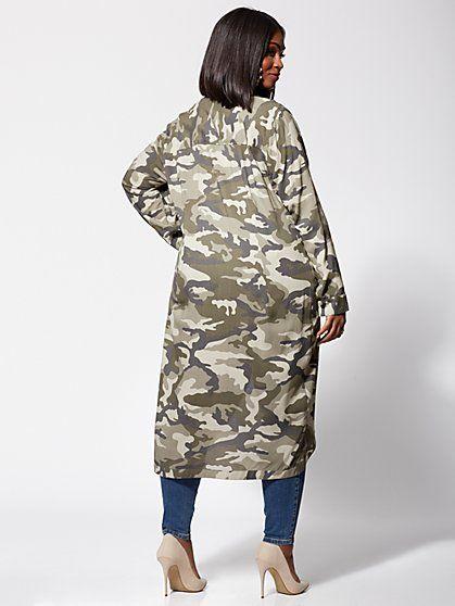 5f25f0464ef61e Plus Size Taylor Camo Twist-Front Tunic - Fashion To Figure