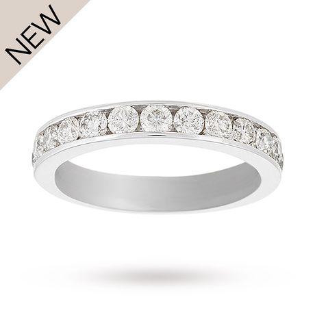 18 Carat White Gold 1.00 Carat Eternity Ring