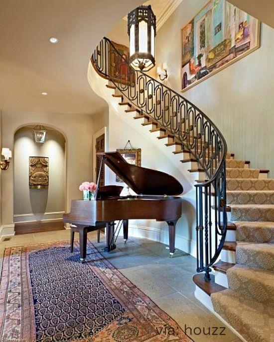 A grand piano always deserves a place of honor interiors for How to place a piano in a room