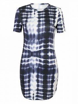 Shop Black Dip Dye Short Sleeve Bodycon Mini Dress from choies.com .Free shipping Worldwide.$26.99