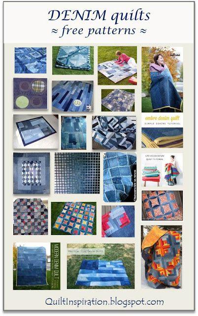 Quilt Inspiration: Free pattern day ! Denim quilts