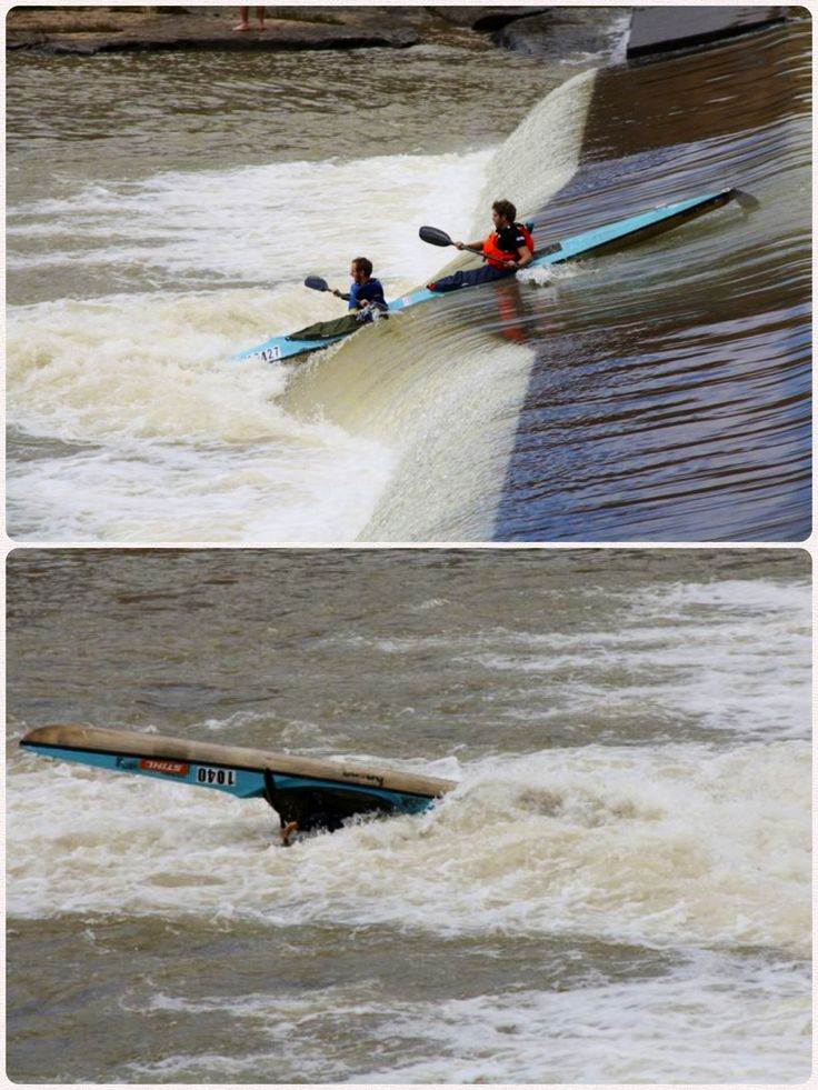 Before and after action shot. Tugela 20 #canoe #river #race in Winterton, KZN.  #kayak #dabskayak #thekayakacademy