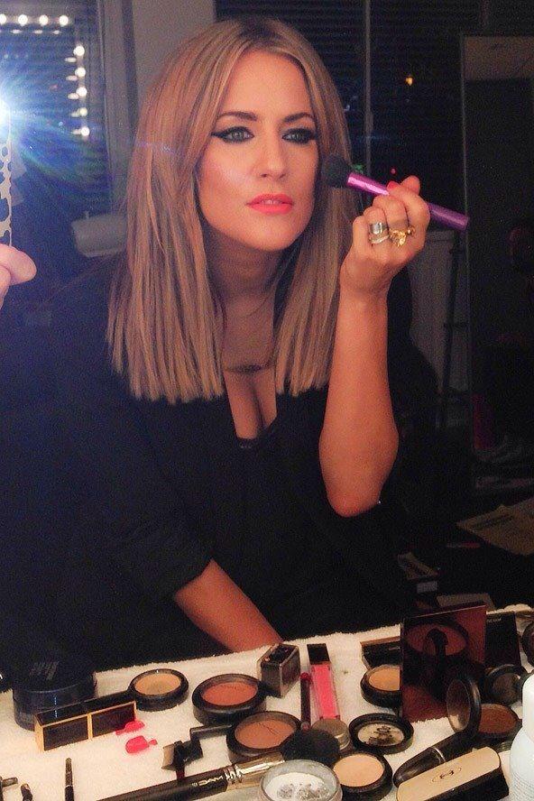 Mac Morange Lipstick, Blunt bob Caroline Flack