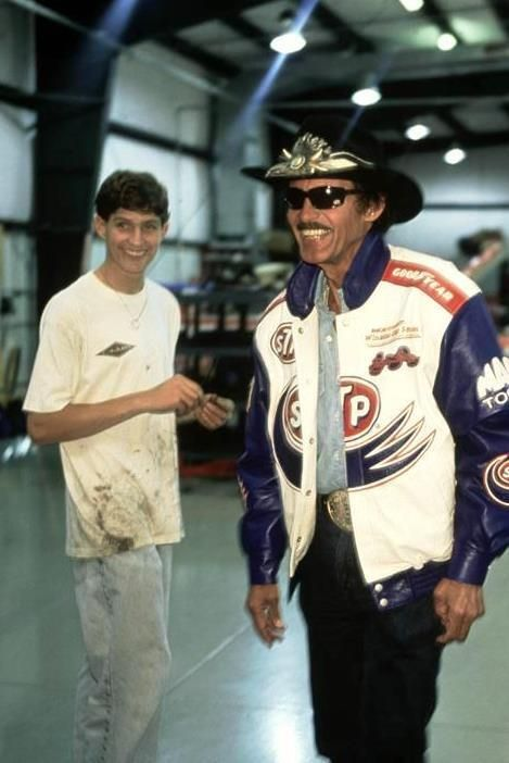Richard Petty and a young Adam