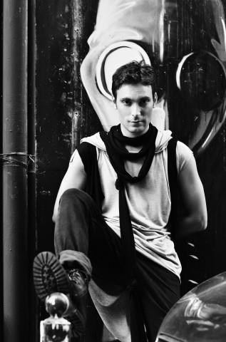 "Actor Konstantinos Lagos in ""Christina Skarpeli"" outfit"