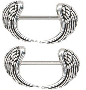 1000 ideas about nipple rings on pinterest circular for Angel wings nipple piercing jewelry