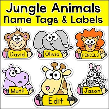 These fun jungle animals name tags and labels will look fantastic in your classroom! This set is so versatile because you can make any labels that you want with the included blank labels and editable Powerpoint file. These would make great bin or basket labels, job cards, flash cards and of course name tags.