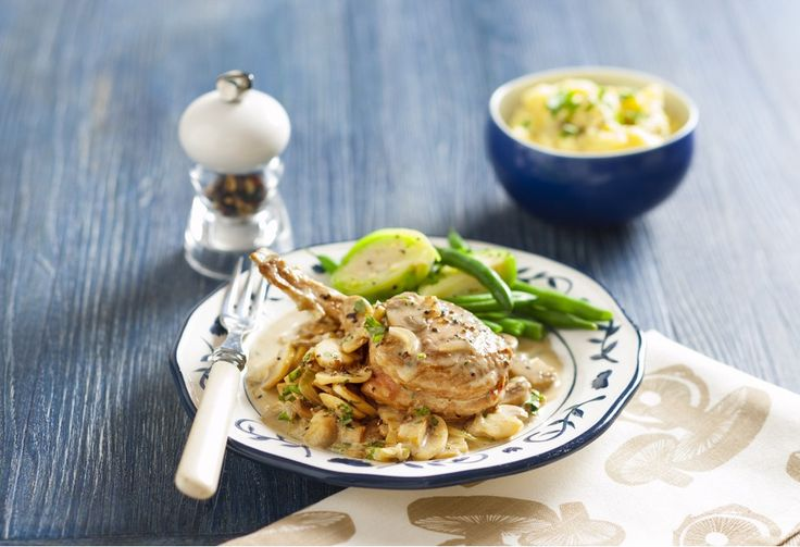 Veal cutlets with mushroom sauce   – recipes
