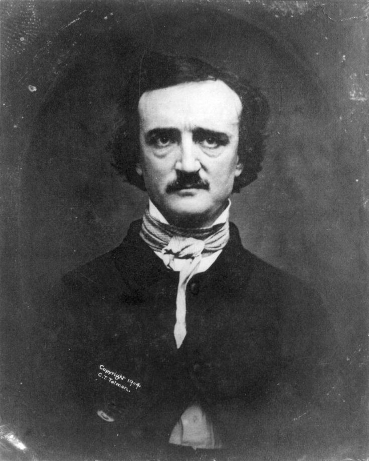 The best known photo of Edgar Allan Poe made in 1848. A year before his death.