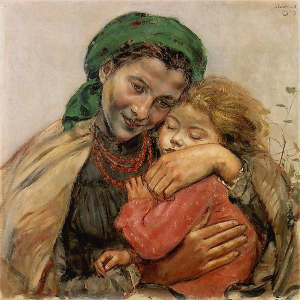 A picture of Madonna - a real woman from Polish kresy (eastern Poland) by Vlastimil Hoffman