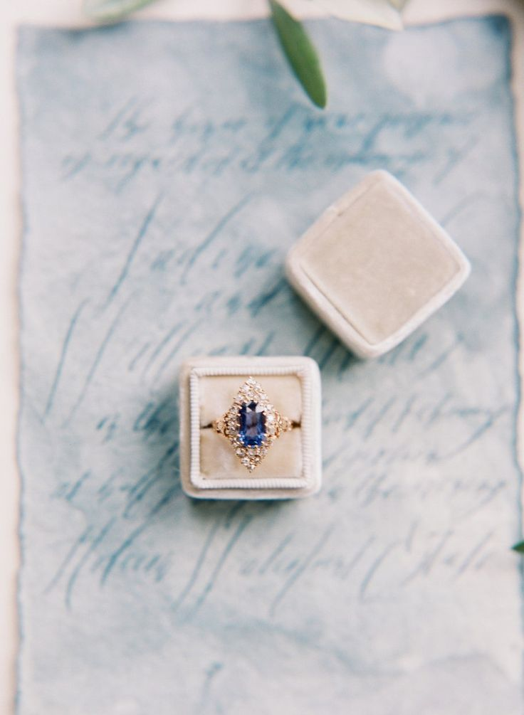 Vintage Inspired Sapphire Engagement Ring // Photography ~ Artiese Studios
