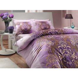 Hobby Home Almeda lila - Lenjerie de pat din bumbac ranforce 2 persoane