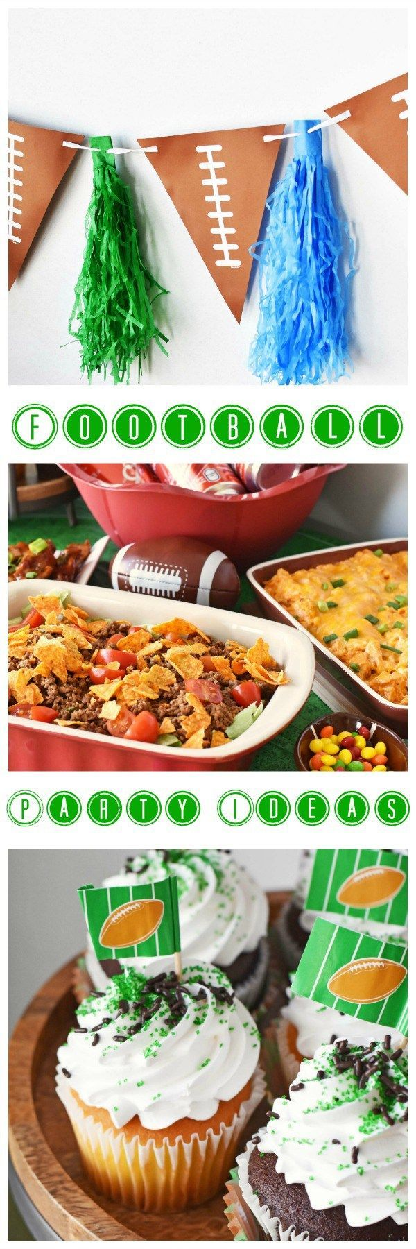 Get Game Day Football Tailgate party ideas and a recipe for Spicy Honey BBQ wings & more. Football party decor ideas and menu plans.