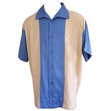 Camisa Charlie Sheen Two and a Half Men Azul Madera $25481