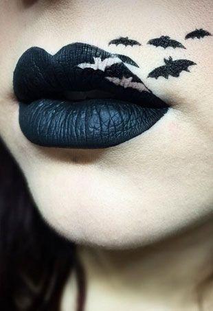 Art lèvres chauve-souris