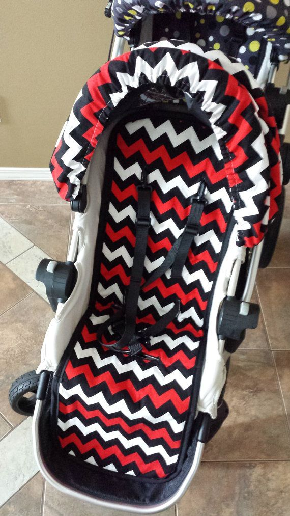 City select- baby jogger- custom fit stroller liner -This listing is for one liner #rileyblakedesigns #chevron #schoolcolors