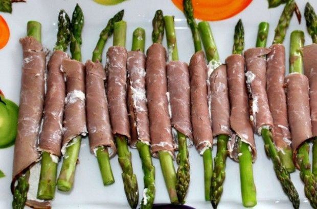 Asparagus Roast Beef Roll-Ups | Appetizers & Side Dishes | Pinterest ...