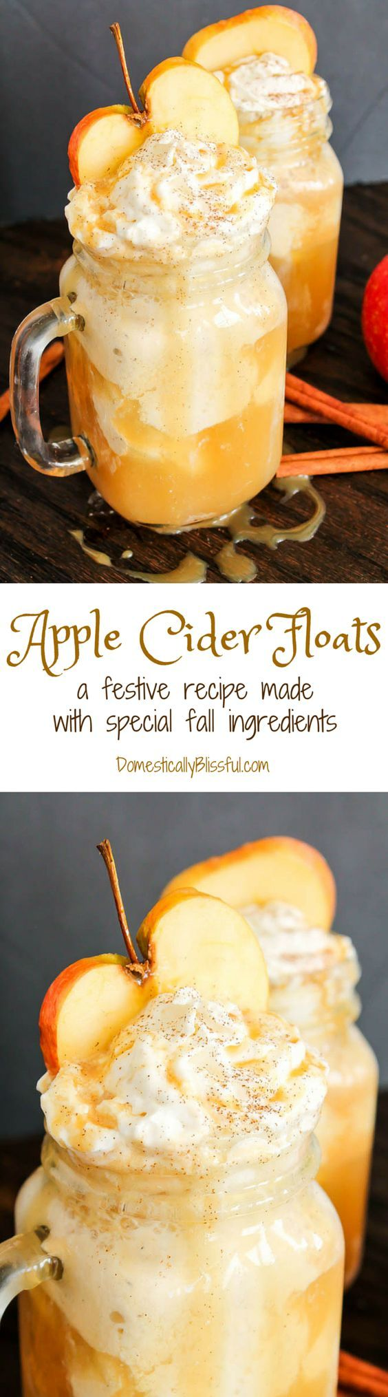 These Apple Cider Floats are made from special fall ingredients